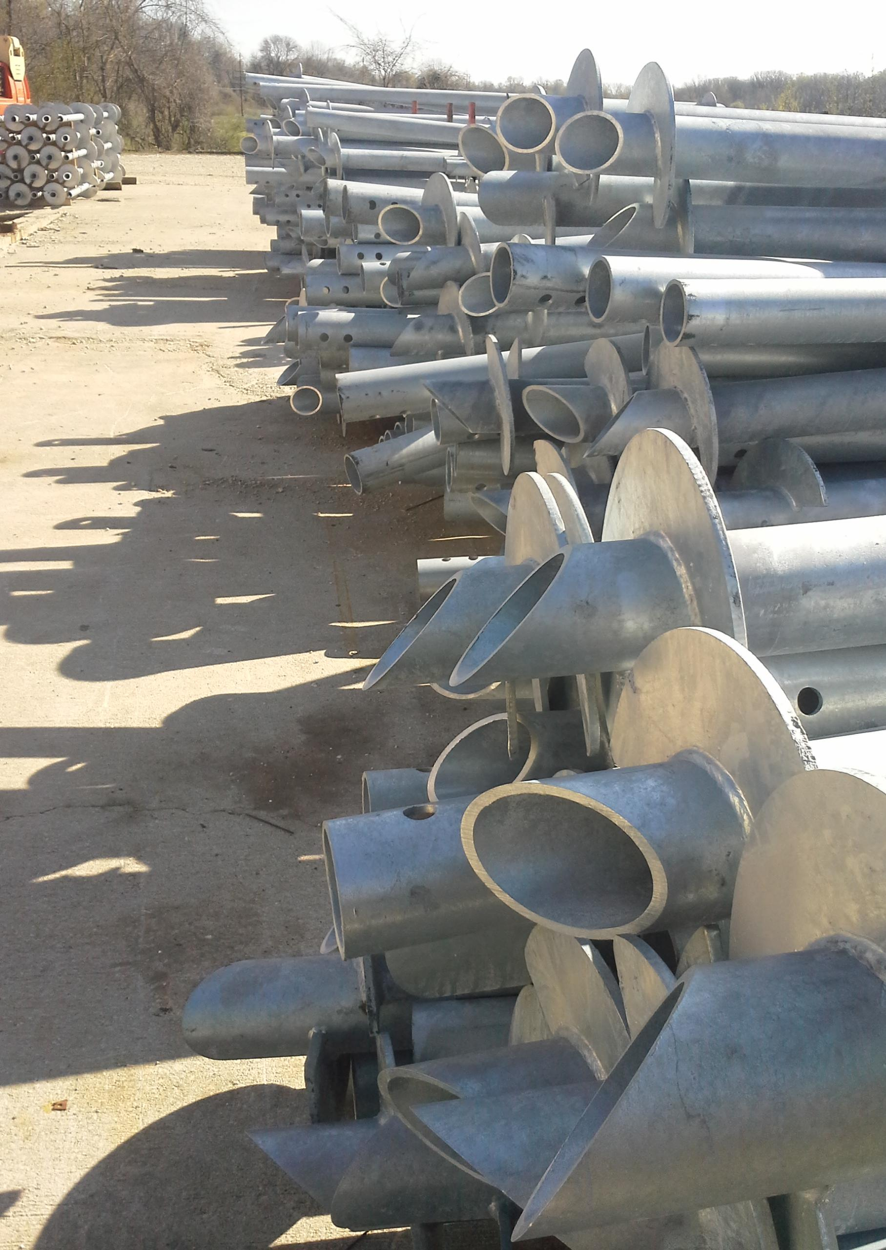 Round Shaft Helical Piers